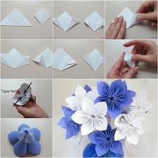 cara membuat bunga dari lipatan kertas kreatif kertas warna desainrumahid com