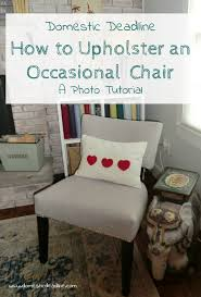 to upholster an occasional chair a diy photo tutorial part 2