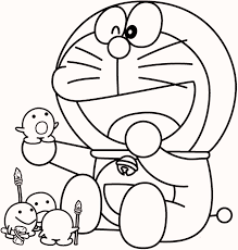 cheerful doraemon coloring book toddlers love color