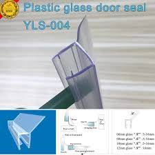 Sealing A Shower Door Eco Friendly Frameless Shower Door Seal With Translucent Vinyl
