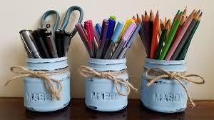 Desk Organization Accessories by Pen Holder Pencil Holder Painted Mason Jars Bullet Journal