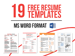 free resume in word format 19 free resume templates now in ms word on behance