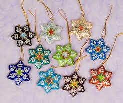 cloisonne ornament snow flakes home décor ornaments