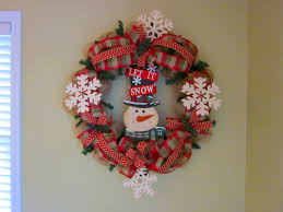 diy mesh wreath for the holidays let it snow the wreath depot