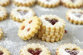 traditional austrian linzer cookies living on cookies living