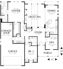 craftsman style house plan 3 beds 2 00 baths 1975 sq ft plan 48 125
