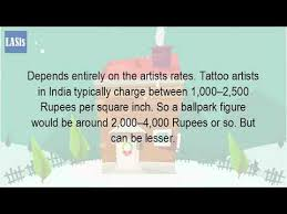 how much does it cost to get a tattoo in india youtube