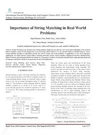 pattern matching algorithm in data structure using c importance of string matching in real pdf download available