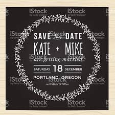 save the date wedding invitation card template with wreath flower
