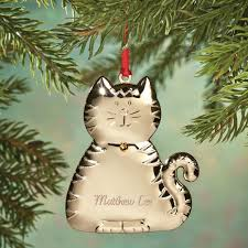 personalized birthstone cat ornament christmas ornament miles