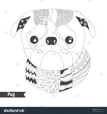 pug coloring pages puppy good dog free baby pug puppy