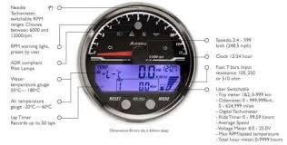 acewell 85mm digital speedo flatracer com classic bikes u0026 cafe
