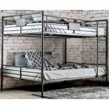 Olga I Antique Black Queen Over Queen Bunk Bed From Furniture Of - Queen over queen bunk bed