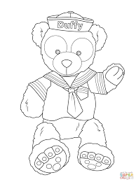 duffy the disney bear coloring page free printable coloring pages