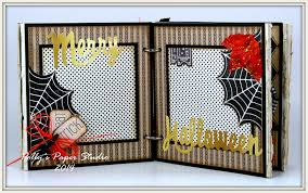 vintage halloween mini album polly u0027s paper studio