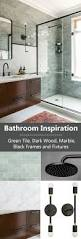 best 25 dark wood bathroom ideas only on pinterest dark bathroom inspiration green tile dark wood marble black frames and fixtures