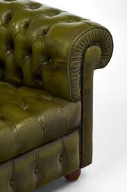 vintage chesterfield green leather club chair jean marc fray