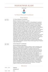 Pharmaceutical Regulatory Affairs Resume Sample by Clinical Research Coordinator Resume Samples Visualcv Resume
