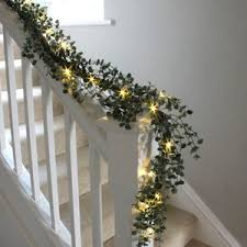 fireplace garlands with lights
