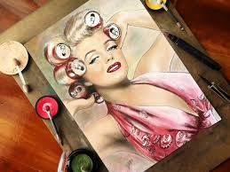 coke blowout hairstyle marilyn monroe with a coca cola dress and coke can hair curlers