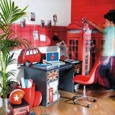 d馗o anglaise chambre ado déco chambre ado style londres kit stickers drapeau anglais déco