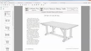 pdf plans for craftsman furniture youtube