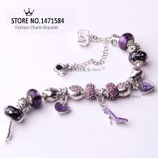 butterfly pandora bracelet images 18 21cm purple charm fashion butterfly bead fit pandora style jpg