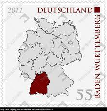 Baden Wuttemberg Deutschlandkarte Baden Württemberg Markiert Lizenzfreies Bild