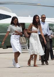 Obama S Vacation Sasha And Malia Obama U0027s Style Evolution Malia Obama White
