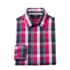 apt 9 clothing apt 9 men s slim fit plaid stretch dress shirt stretch dress