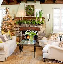 Images Of Mantels Decorated For Christmas Decorating Holiday Mantels Traditional Home