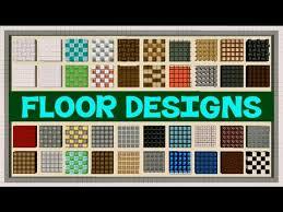 Floor Plans Minecraft Minecraft Floor Designs Youtube