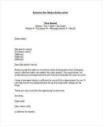 19 two weeks notice letter examples samplesnotice letter