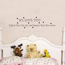 aliexpress com buy we love you higher than the sky quote wall aliexpress com buy we love you higher than the sky quote wall decal stickers art vinyl mural for baby room decor from reliable stickers door suppliers on