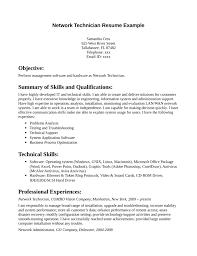 Network Administrator Skills Resume Network Technician Sample Resume Gallery Creawizard Com