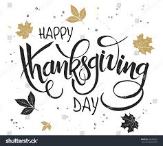vector lettering thanksgiving greetings text stock vector
