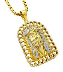 gold jesus pendant necklace images 18k gold plated large jesus pendant stainless steel necklace with jpg