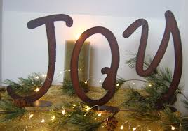 metal decorative letters home decor joy metal word art christmas decoration metal joy holiday