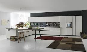 contemporary kitchen laminate wooden island grafica