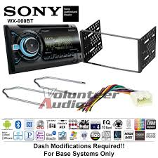 sony double din cd player car radio dash install mounting kit