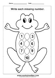 worksheet missing number worksheets for kindergarten luizah