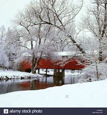 Lehigh Valley Landscape by Bogart U0027s Bridge Red Covered Bridge With Snowy Landscape Lehigh