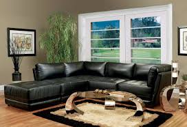 Black L Tables For Living Room Living Room Cool Living Room Design With Black L Shaped Leather