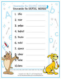 fun activity sheets about your teeth for kids dentists4kids com