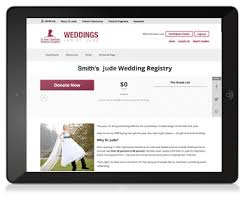 bridal registry website weddings st jude children s research hospital