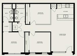three bedroom apartment floor plan home design
