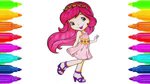 coloring pages strawberry shortcake drawing pages to color for