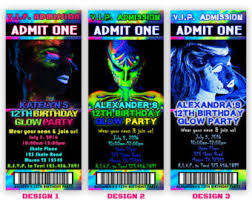 best compilation of glow in the dark birthday party invitations