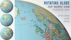 world map globe image rotating globe world political map top view by vf videohive