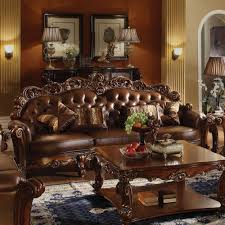 Oversized Furniture Living Room by Acme Furniture Vendome Oversized Sofa With 4 Pillows In Cherry Pu